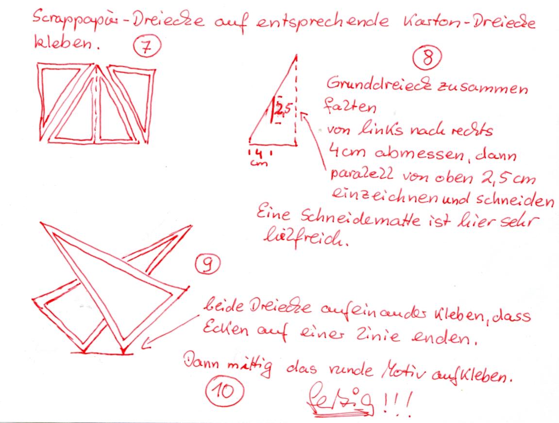 Vorlage 02 Stern Stehkarte | Bastelhexchen
