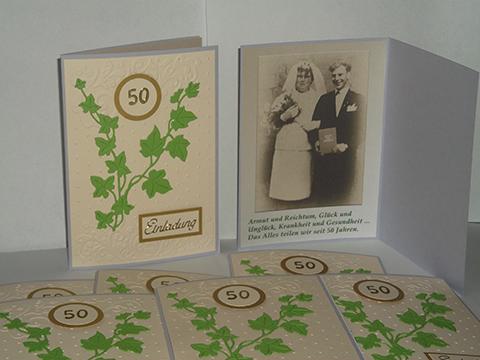 Goldene Hochzeit Einladung